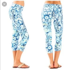 Lilly Pulitzer Cropped Legging Indigo Sunset Swim